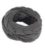 Витой кабель для женщин и женщин шеи теплее толстые зимой трикотажные шарфы петлю Snood (SK138)