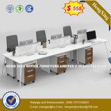 Bureau de MDF en bois de la Partition 4 station de travail de siège avec le Cabinet (HX-8N0662)