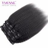 Yvonne Venta caliente Virgen humano Sin Procesar los clips de Hair Extension