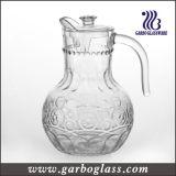 1.8Lふたおよびハンドルが付いている古い方法Flagonのガラス水差し