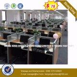 Lecong Marke Station de travail de bureau en bois de couleur noire (HX-8NR0012)