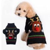 Het milieuvriendelijke Katoen van de Kleding van het Huisdier breit de Sweater van de Hond met de Klauwen van het Leer met de hand