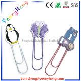 Clip de papel del regalo del silicón de la dirección de la Internet de goma suave promocional del PVC