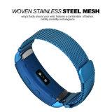 Fit2のための新しいカラー網のループバンド18mm固体磁気ミラノの時計バンド青いカラーバンド