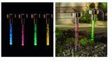 Luz de acrílico solar del acero inoxidable con la burbuja para el jardín