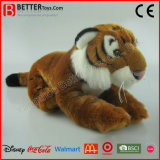 En71 아이를 위한 살아있는 것 같은 박제 동물 연약한 호랑이 견면 벨벳 장난감
