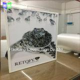 LED Alumiunm branco estrutura Poster para joalharia publicidade caixa de luz fino de sinal de vídeo