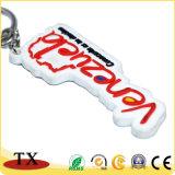Projetar PVC macio Keychain da borracha