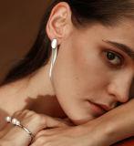 نمو مجوهرات هندسيّة [رووند بر] تصميم إمرأة فضة جنيه إسترليني حلول ([إ6653])