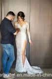 Spitze-Brautkleid-Extraserie knöpft rückseitiges Hochzeits-Kleid M2017
