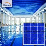 Темно-синий цвет текстур крытый плавательный бассейн плиткой стеклянной мозаики