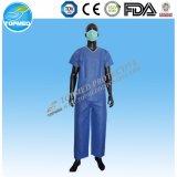 Vestido do paciente da roupa do hospital da tela de SMS PP
