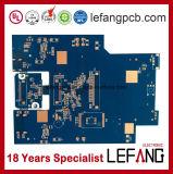 Circuit imprimé de carte de moniteur visuel d'encre bleue