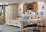 현대 침실 가구는 단단한 나무 2인용 침대를 디자인한다