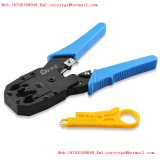 Rede e cabo LAN Cutter-Stripper-Crimpador em uma ferramenta de crimpagem do cabo RJ45