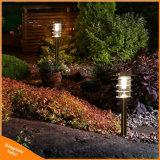 LED de aço inoxidável Lâmpada Paisagem Piscina Jardim relvado Luz Solar