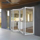De bi-Vouwende Deur van het Glas van het aluminium voor Terras