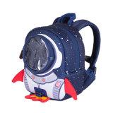 Sacos de escola dos desenhos animados do espaço da trouxa 3D Rocket do bebê dos miúdos das crianças para meninos das meninas