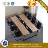 Muebles de oficinas de madera de la pierna de conferencia del escritorio de acero negro del vector (UL-MFC252)