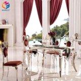 Таблица Hly-St12 мебели нержавеющей стали золота Rose белая стеклянная бортовая