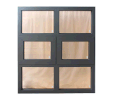 Алюминий обрамляет стеклянное окно тента и фикчированное Windows