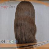 Peluca natural de las mujeres de la tapa de la piel del pelo humano del color (PPG-l-0973)