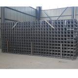 A construção usou o painel de engranzamento soldado do fio do concreto reforçado