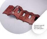 Retro casella di legno di qualità superiore per la visualizzazione del metallo prezioso