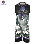 2017新製品昇華させたポリエステルバスケットボールのジャージーのスーツの良質