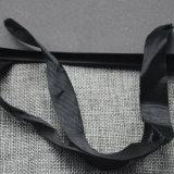 Logotipo de cor preta Maleta de papel de impressão para roupas/lojas/Dom