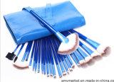 24 в 1 сини хвостовика руки косметического волокна набора щетки Nylon деревянной составляет щетки с мешком