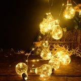 [لد] بصيلة نحاسة خيط يسخّن أضواء, [100لدس/10بولبس] بيضاء كرة أرضيّة [لد] سلك يعلّب ضوء لأنّ عيد ميلاد المسيح [هلّووين] [ودّينغ برتي]