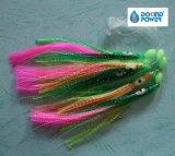 La piel de pescado Sabiki aparejos carnadas Chrystal plumas Sabiki Flash de plataformas para la venta