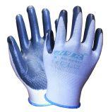 Установите противоскользящие ближний свет Abrasion-Resistant Oil-Proof нитриловые перчатки безопасности