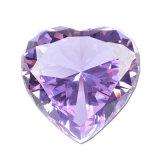 Peso di carta di cristallo del diamante brillante, decorazione di cristallo di cerimonia nuziale di Gorgeus, regalo del biglietto di S. Valentino di cerimonia nuziale