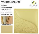Pacote de software como pano de fundo do leito de couro sintético de PVC