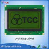 Syb128X64 Kzkv15 도표 12864LCD LED 백색 황록색 역광선