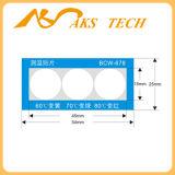 접착성 스티커 고열 색깔 변화 열 과민한 레이블