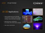 Linterna ULTRAVIOLETA de la profesión 365nm LED que solicita la valoración experta del jade, curado ULTRAVIOLETA