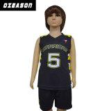 広州Ozeasonの卸し売りカスタム昇華乾燥した適合はバスケットボールジャージーをからかう