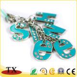 Diamond-Bordered avec des chaînes en métal pour cadeau de promotion de la chaîne de clé