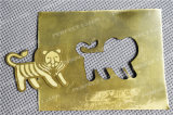 Equipamento de alumínio da marcação do laser da fibra da prata do ouro