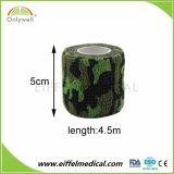 Fasciature coesive militari dell'esercito non tessuto del cotone del camuffamento