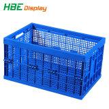 着色されたプラスチックFoldableハンドルのバスケットの記憶の木枠ボックス