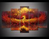 Cópia da lona que pinta 5 retratos impressos HD da arte da parede de Phoenix da fantasia da pintura a óleo do painel para a decoração Home moderna da sala de visitas