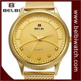 Belbi Geschäfts-Art-Entwurf für analoge Mann-Stahl-Armbanduhr