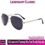 1002um anti-UV unissexo elegante óculos polarizados com estrutura metálica