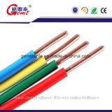 Верхняя кабельная проводка качества изолированная PVC одиночная электрическая