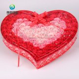 Personnalisé Papier imperméable forme de coeur fleur imprimé Emballage