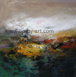 混合されたカラー抽象的な油絵の家具の壁の芸術